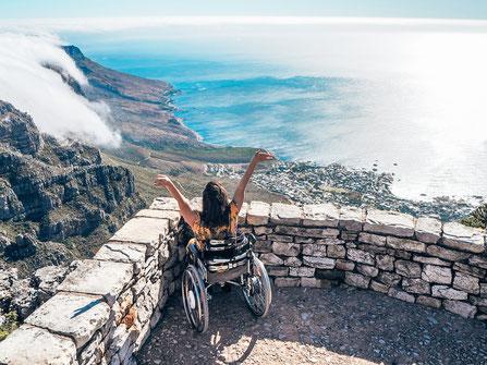 Kim auf dem Tafelberg - (c)wheeliewanderlust
