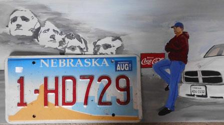 Bild: HDW Nummernschild aus Nebraska