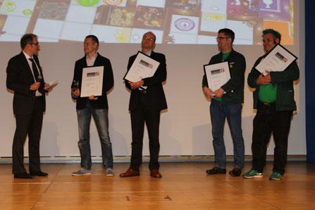 Verleihung des innoSPIEL 2017 auf der SPIEL'17 in Essen