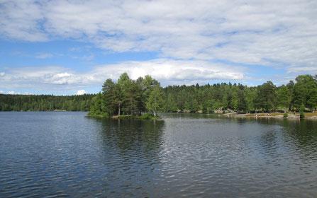 Der Sognsvannsee bei Oslo