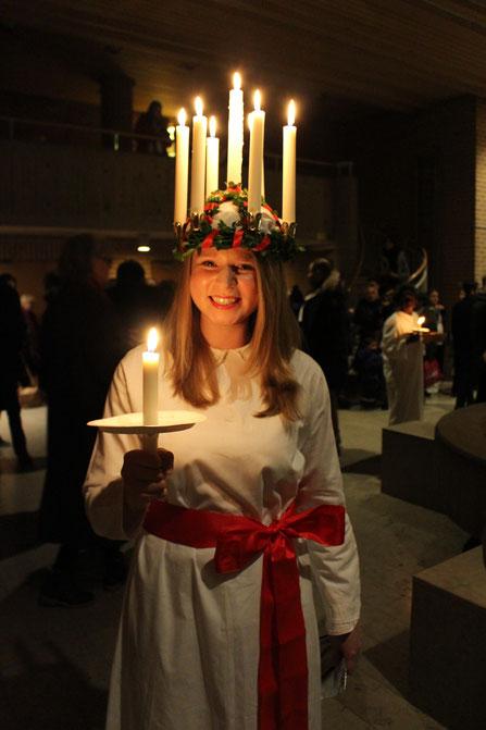 Elisabeth Schwake als Lucia nach dem Konzert