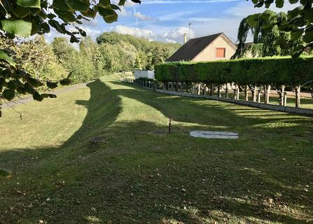 Une des digues de protection à Choisy-au-Bac (60)