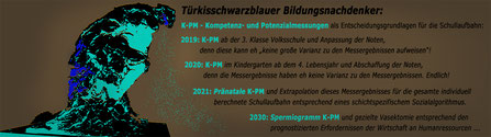 Türkisblauer Bildungsdenker: 2019 bis 2030 K-PM - Kompetenz- und Potenzialmessungen als Entscheidungsgrundlagen für die Schullaufbahn:  Bild:spagra