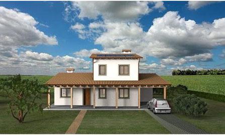 Villa tradizionale, 2 piani, 130mq