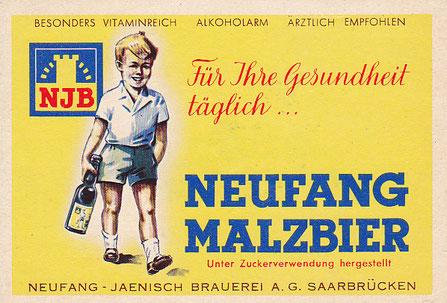 Bieretikett Neufang Malzbier