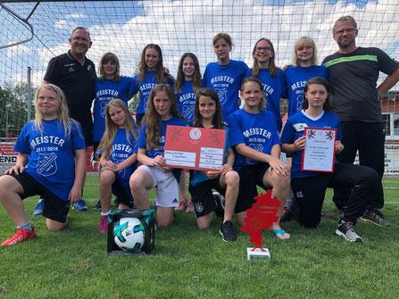 Die Siegerinnen des Hessenpokals 2018 der D-Juniorinnen.
