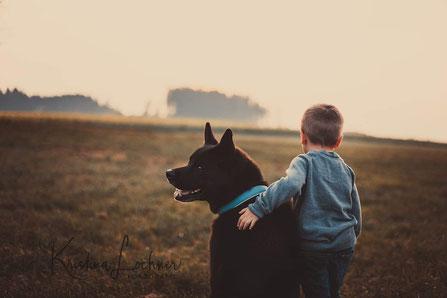 Herbstshooting mit Kind & Hund