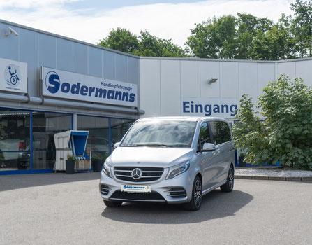 behindertengerechter Mercedes-Benz V 220 CDI Selbstfahrerumbau, 2 Verladesysteme, Space Drive, Kamerasystem, Sodermanns