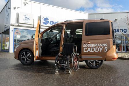 Umgebauter VW Caddy 5 rollstuhl behindert angebot sodermanns