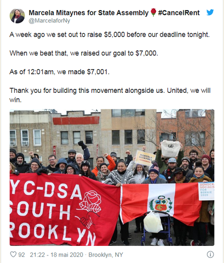 Marcela Mitaynes, Peruvian American, activist for housing  rights, campaigns for a seat in the New York State Assembly.