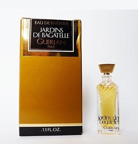 JARDINS DE BAGATELLE - EAU DE PARFUM 5 ML - MINIATURE AVEC BOUCHON EN PLASTIQUE DORE CARRE