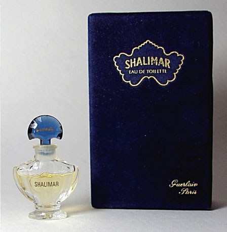 SHALIMAR - PARFUM : 3ème VERSION CONTEMPORAINE AMPHORE AVEC PIED ETROIT - MINIATURE IDENTIQUE A LA PHOTO PRECEDENTE