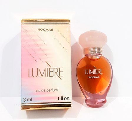 LUMIERE - FLACON AMPHORE EN VERRE TRANSPARENT - EAU DE PARFUM 3 ML - BOUCHON ROSE CLAIR, MINIATURE IDENTIQUE A LA PHOTO PRECEDENTE