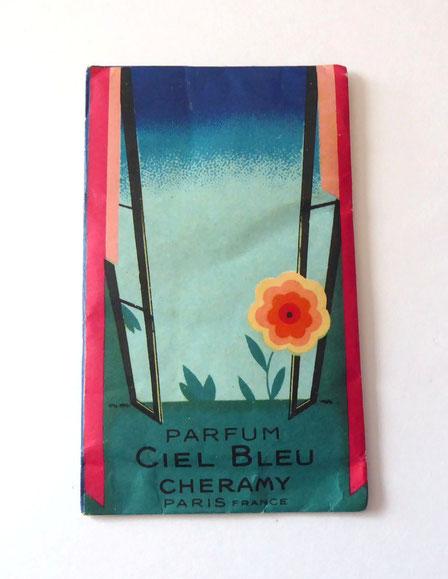 CHERAMY - CIEL BLEU : ECHANTILLON DE POUDRE LIBRE PARFUMEE AVEC CIEL BLEU