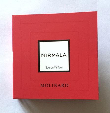 MOLINARD : NIRMALA EAU DE PARFUM - TUBE ECHANTILLON ACTUEL