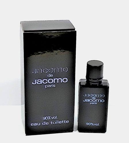 JACOMO - JACOMO EAU DE TOILETTE 90 % VOL. -  MINIATURE ET BOÎTE DIFFERENTES DES PRECEDENTES (PLUS RECENTE)