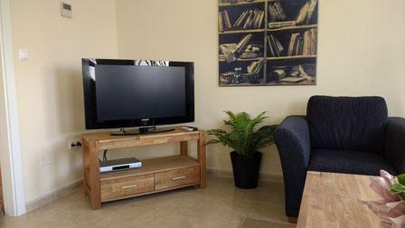 Televisie gedeelte Villa Casa del Lago