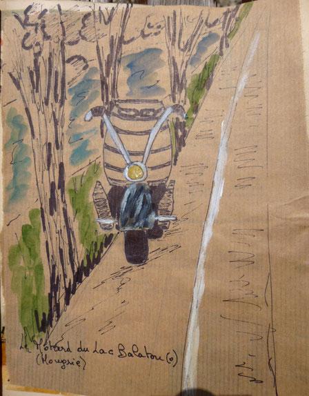 le motard du lac Balaton(o)