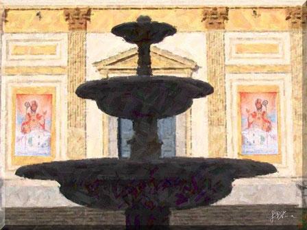 Cava de' Tirreni - Piazza Duomo, Fontana dei Delfini