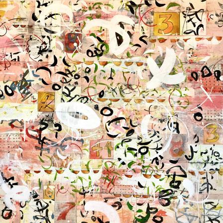 "Laura Wait, ""Cleopatra's Garden,"" 2021, acrylic on Baltic Birch, 44 x 44 inches, $7,500"