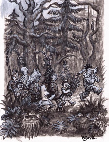 Eugen Egner, Illustration zur Erzählung ‹Das Erlebnis›