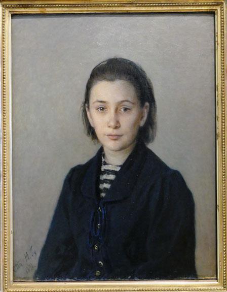 Nicolai Ge (1831-1894) : portrait d'Olga Kostycheva
