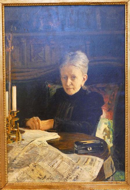 Nicolai Ge (1831-1894) : portrait d'Elena Likhacheva