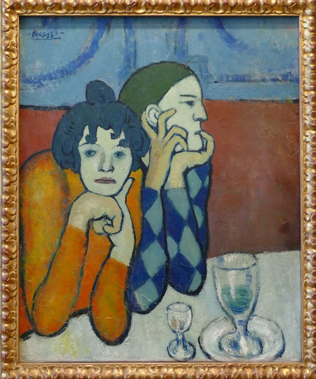 Pablo Picasso (1881-1973) : Arlequin et sa compagne, les deux saltimbanques