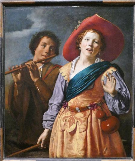 Johannes Pauwelsz Moreelse : bergère chantant et berger, vers 1630