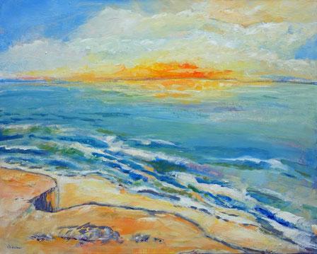 Lichterspiel an der Ostsee II | Acryl auf Leinwand | 80 x 100 cm