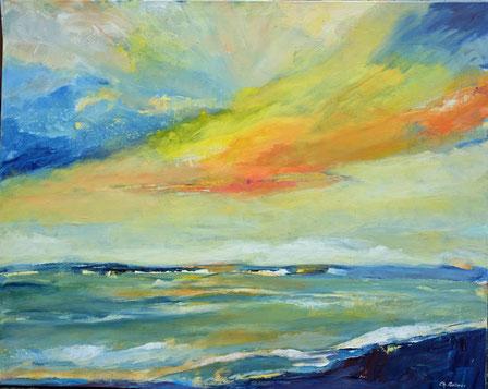 Lichterspiel an der Ostsee III | Acryl auf Leinwand | 80 x 100 cm