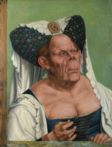 Vieille Femme grotesque (1525-30). Huile sur bois, 64 x 45,5 cm National Gallery (Londres)