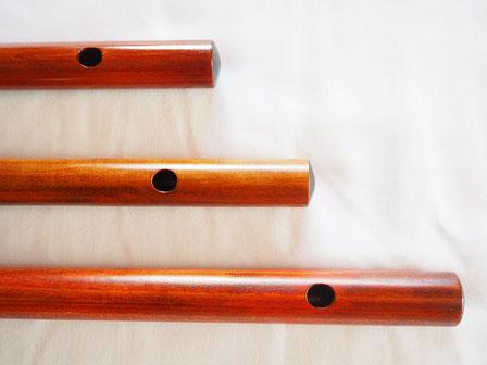 オリジナル横笛(木製)G・F・LowD管  吹き口穴