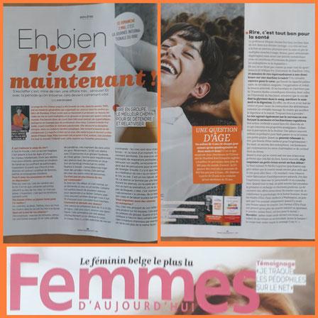 Article  Femmes d'Aujourdhui - Anne Deflandre (2021)
