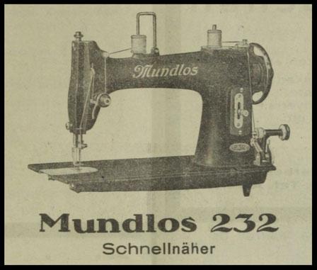 Rundgreifer  Mundlos 232 Schnellnäher (1928 )
