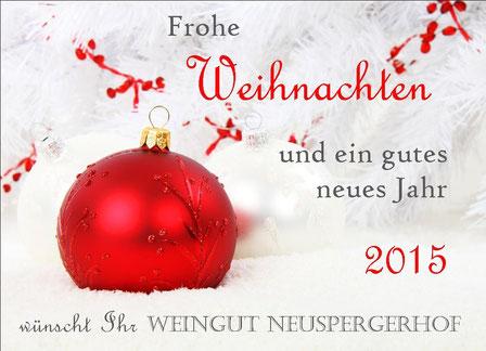 Weihnachtsetikett Weingut Neuspergerhof