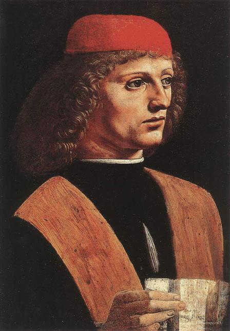 Портрет музыканта - самые известные картины Леонардо да Винчи