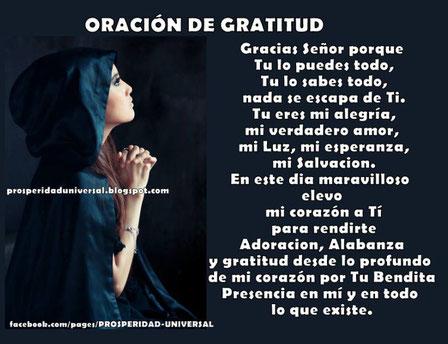 EL PODER DE LA GRATITUD - PROSPERIDAD UNIVERSAL - ORACIÓN DE GRATITUD- www.prosperidaduniversal.org