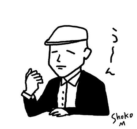 先生の似顔絵(卒業生が描いてくれたもの)