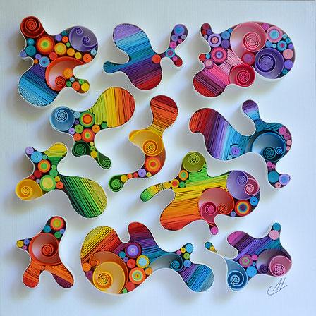 quilling , art, paper art, quilling paper art, quilling art, quilling wall art, art, happy, paper, rainbow, quilling letters, artwork, квиллинг, Larissa Zasadna, Лариса Засадная, Квиллинг бумага