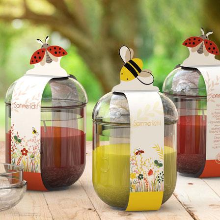 Sommerlichter mit Citronella von Engels Kerzen - gegen lästige Mücken