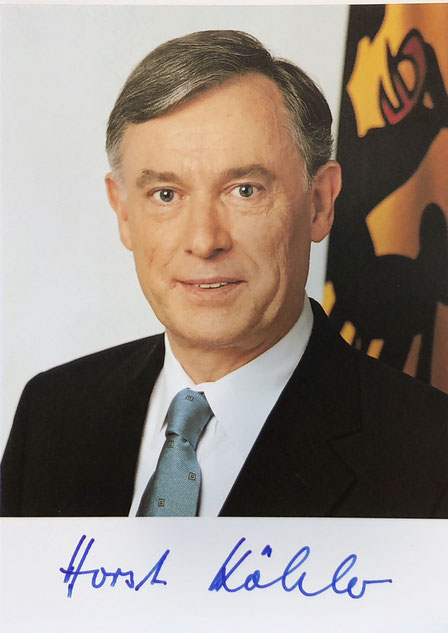 Horst Köhler, 9th President of Germany (2004-2009), Autograph bought with COA