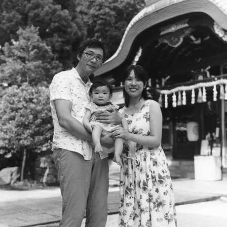 A様ご家族(2017年7月 白黒フィルム撮影)