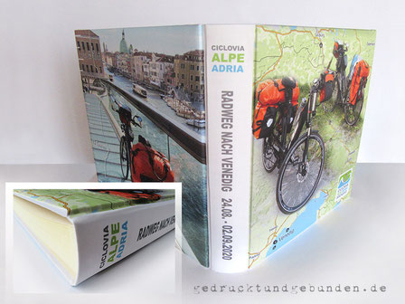 Fotoalbum Hardcover 35cm x 35cm, 100 Seiten elfenbeinfarben, Stoff individuell bedruckt, Reisealbum Venedig