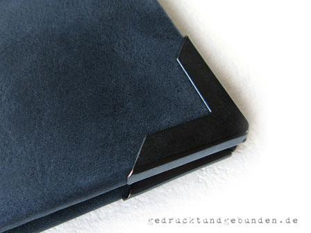 Bucheinband Hardcover Metall-Buchecken mattschwarz 30mm Schenkellänge