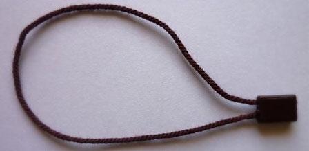 Marchamos Textiles color Marrón Oscuro 184mm 007A4BRDK
