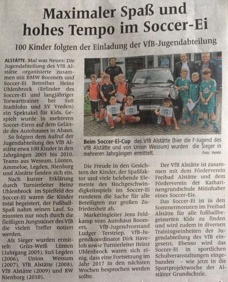 Fußball im Autohaus bei  BMW?  das geht