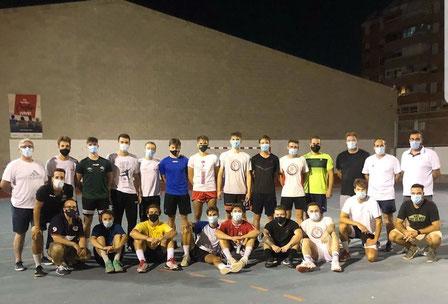 El equipo tras su primer entrenamiento / Foto: Agustinos2a