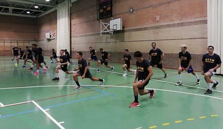El equipo ya trabaja en San Basilio / Foto: UCAM BM Murcia