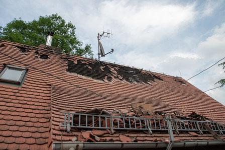 Dachsanierung, Reparaturschnelldienst bei Sturmschäden